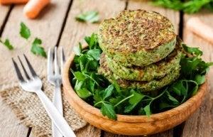 hamburger di soia e spinaci