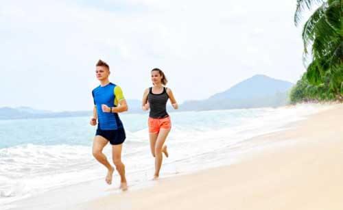 Potete correre sulla sabbia in coppia