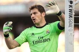 Casillas mentre difende la sua porta