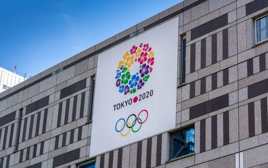 Banner Olimpiadi Tokio 2020.