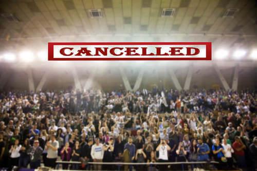 Evento sportivo cancellato