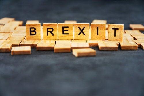 Brexit scritto con lettere di legno