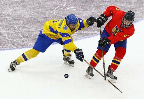 Partita di hockey sul ghiaccio