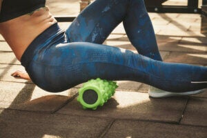 Foam roller per le gambe
