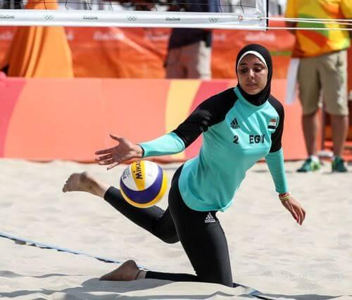 Doaa Eighobashy è una delle atlete musulmane più conosciute