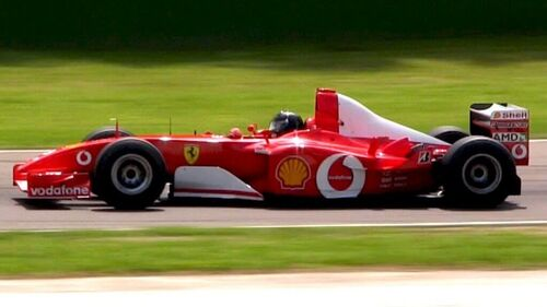 Ferrari F2002 in pista