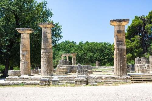 Le rovine di Olimpia in Grecia
