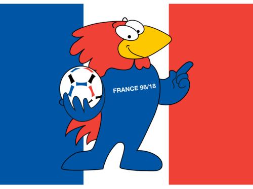 Footix gallo simbolo dei mondiali di Francia