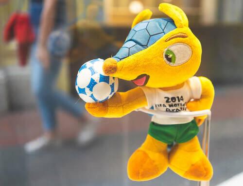 Pupazzo con pallone da calcio
