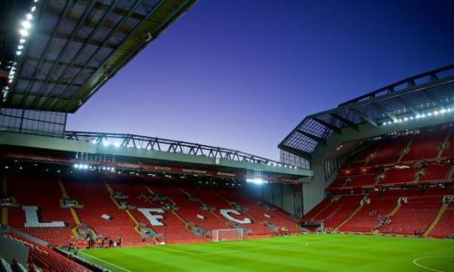 Anfield è lo stadio storico del Liverpool.