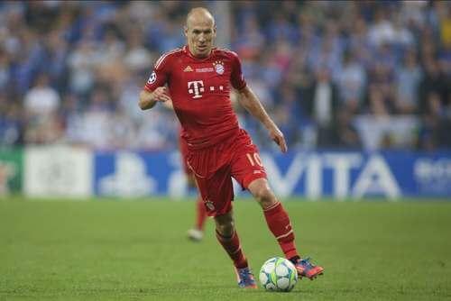 Arjen Robben in campo.