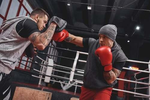 Allenamento di boxe.
