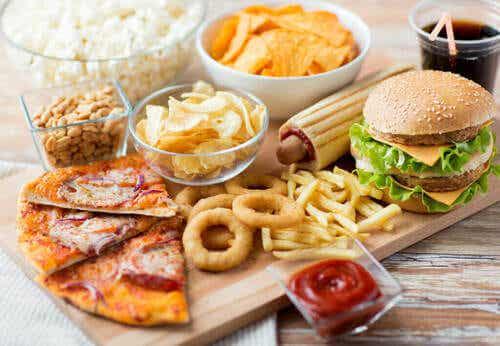 Effetti del cibo da fast food dopo l'allenamento