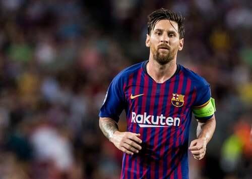Lionel Leo Messi, giocatore del Barcellona.