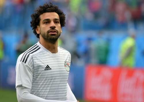 Il giocatore egiziano Mohamed Salah.