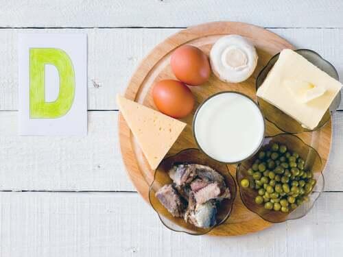 I latticini e le uova contengono vitamina D.