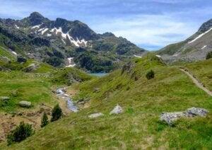 Paesaggio di montagna.
