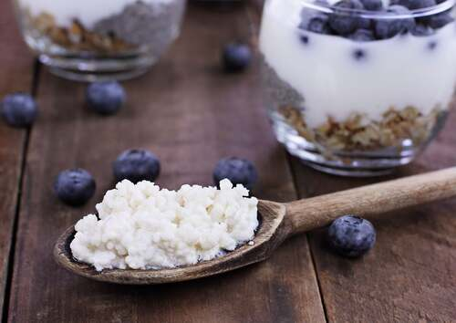 Il kefir è ricco di probiotici.