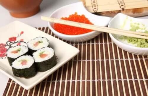 Piatto di sushi.