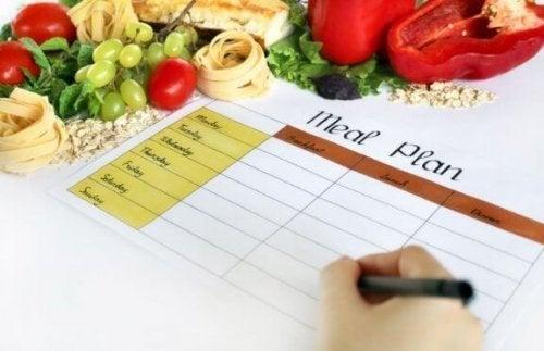 初心者のためガイドライン:食事プランについて
