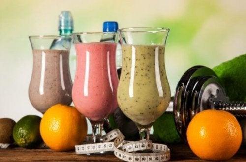 筋肉量を増やすためのタンパク質たっぷりシェイク