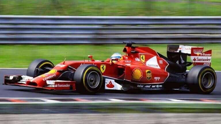F1に出場するフェラーリ