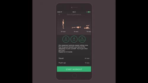キャリステニクス(自重トレーニング)を学ぶアプリ
