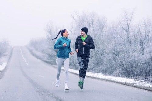 겨울 달리기를 하기에 가장 좋은 시간