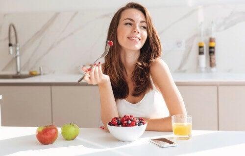 하루를 시작하기 위한 건강한 아침 식사
