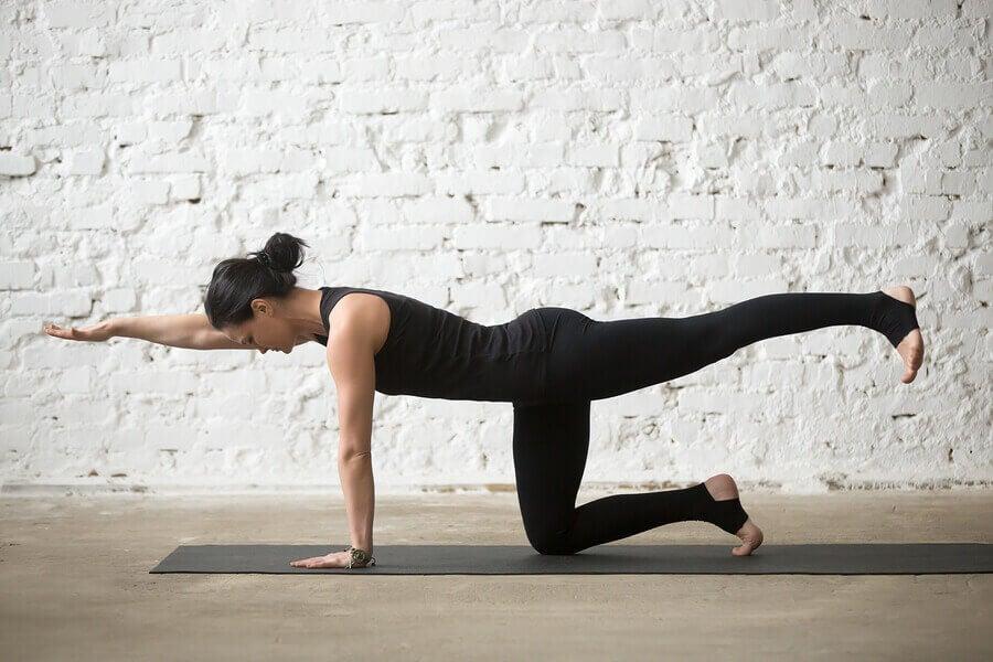 3. 다리를 뻗고 하는 플랭크(Plank with leg extensions)