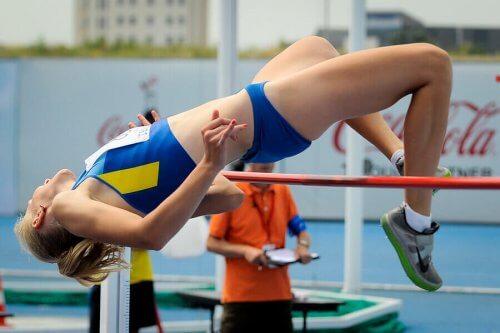 딕 포스버리 선수와 그의 높이뛰기 기술
