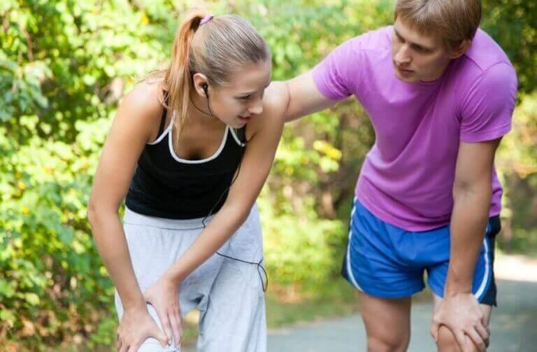 활동으로 인한 근육 좌상