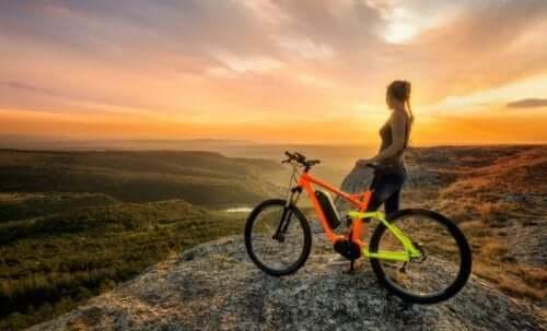 유산소 운동을 위한 산악자전거