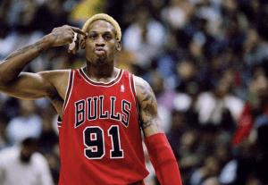 Chicago Bulls spiller nummer 91 hos laget fra 1996.