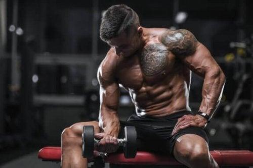 Hvordan utføre bicepscurl på en perfekt måte