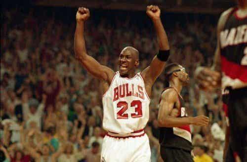 """Hvordan spilte """"the Bulls"""" som Michael Jordan var en del av?"""
