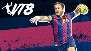 Bilde av kapteinen for håndballaget FC Barcelona.