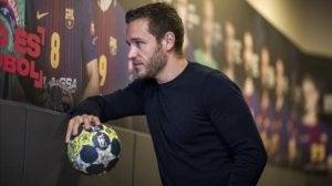 Bilde av den spanske håndballspilleren Victor Tomas.