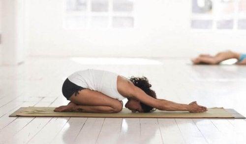 Yogaøvelse.