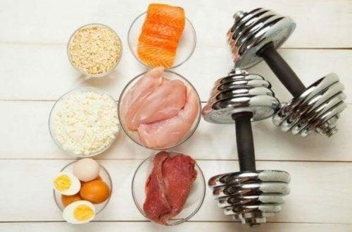 Matvarer for å bygge muskelmasse