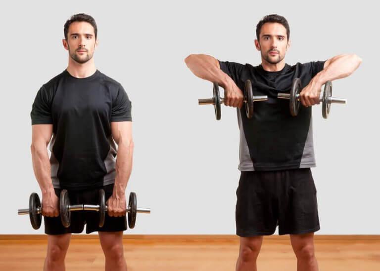 Gjør øvelsen riktig: Vertikal hantelroing