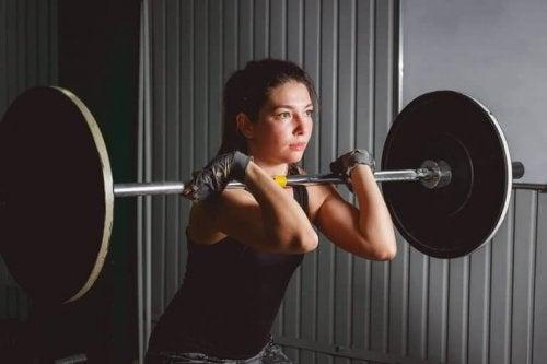 En CrossFit-øvelse.