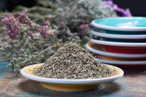 oregano er rikt på kalsium
