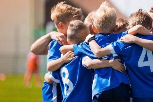 verdiene hos barn som spiller fotball