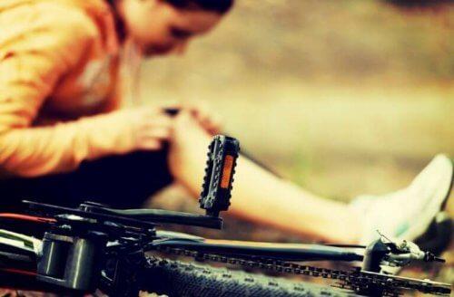 Noen vanlige sykkelskader