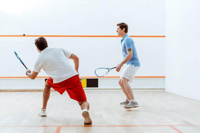 Idretter med rekkert: Squash.