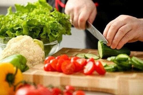 Agurk i salat