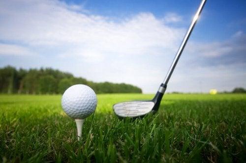 Holdning er veldig viktig i golf.
