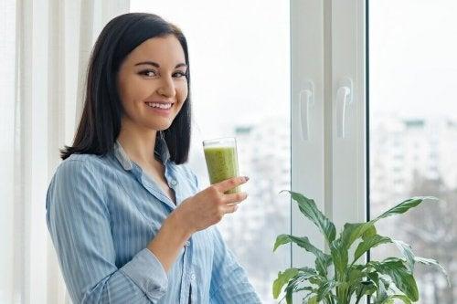 Juice av frukt og grønnsaker for vekttap