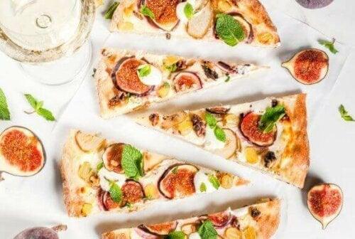 Pizza med fiken.
